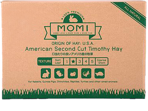 (PREORDER Not in stock, Prepayment required) Momi 2nd cut Timothy 10kg (4 x 2.5Kg Bags In One Carton) -  No Alien$