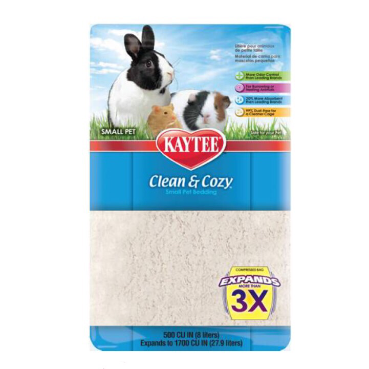 Kaytee - Clean and Cozy Bedding - White