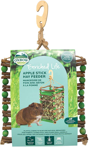 Oxbow Enriched Apple Stick Hay Feeder