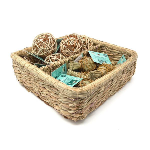 Oxbow Enriched Life Deluxe Hay Wrap & Rattan Ball Basket
