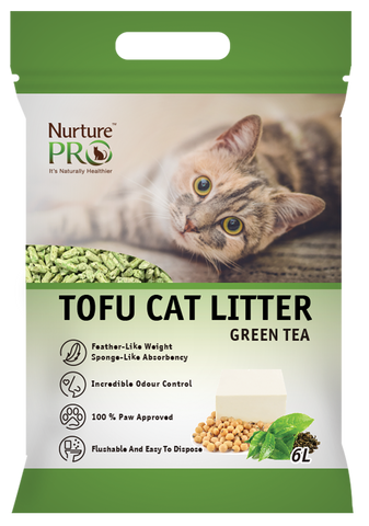 TIME SALES - 2 PACKS OF 6L Nuture Pro - Tofu Cat Litter Green Tea (No Alien$)