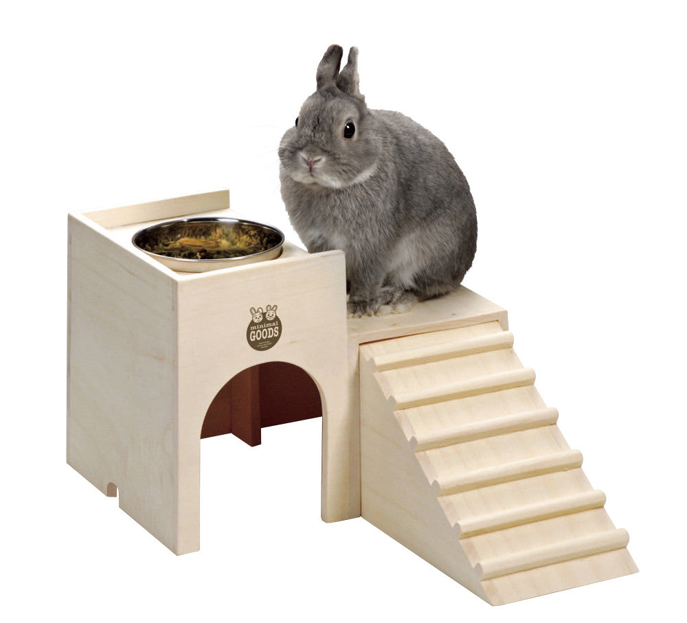 Marukan Rabbit Wooden House Dish Table ( Earn Alien$3 )