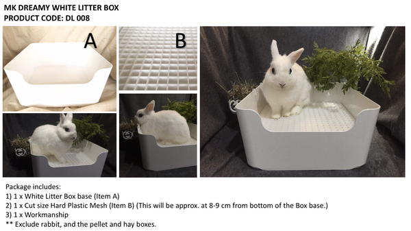 MK MONA LITTERBOX DL008 For Rabbit (No Alien$)