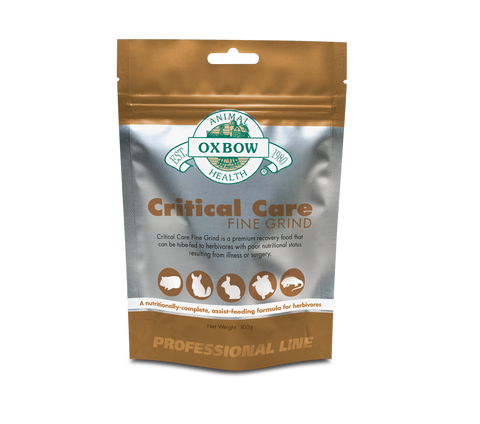 Oxbow - Critical Care (Fine Grind) (No Alien$) -  (No Alien$) - Leave us a note if you need the free 3ml syringe subject to availability