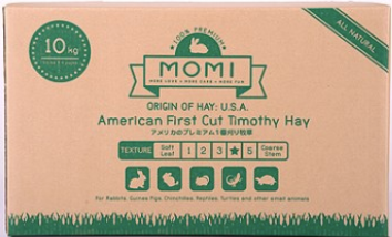 Momi Timothy Hay  (2 x 2.5Kg 2nd cut hay  and 2 x 2.5kg 1st cut hay  In One Carton) - No Alien$