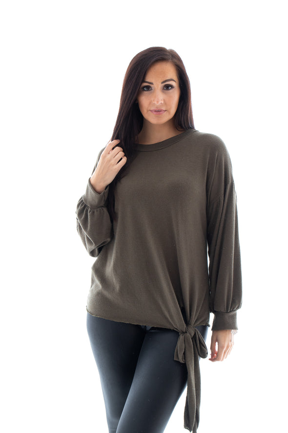 Tori Tie Front Jumper - Tilletts Clothing (4095290769521)
