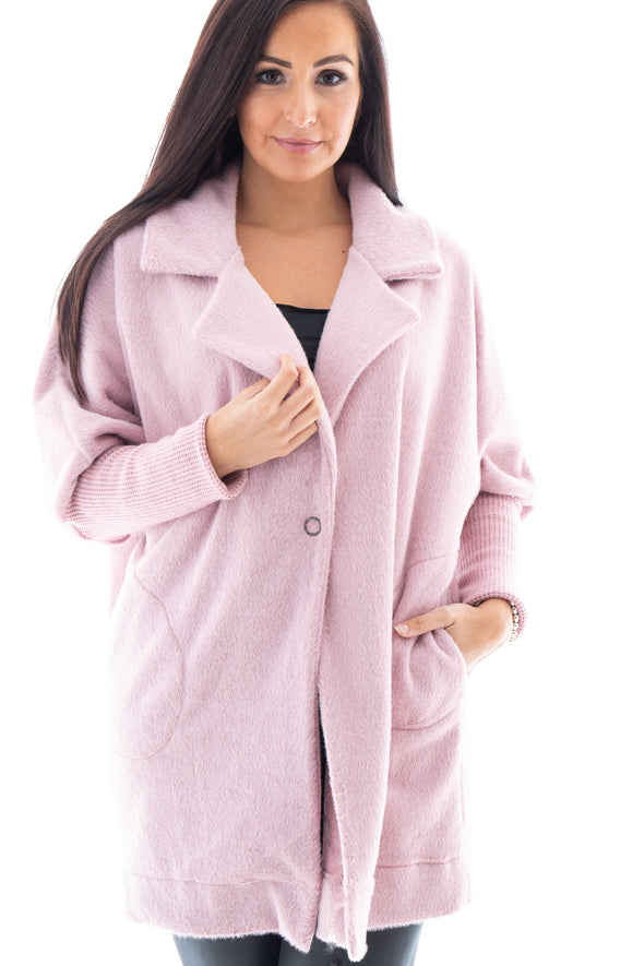 Venus Fluffy Coat - Tilletts Clothing (4182437036145)