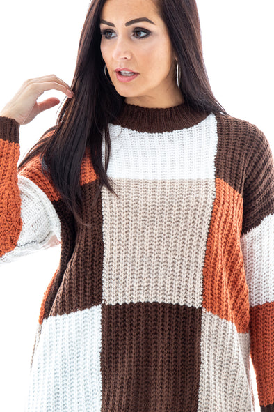 Joanne Colour Block Jumper