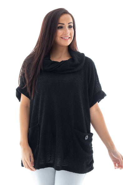 Cora Cowl Neck - Tilletts Clothing (4257138016369)
