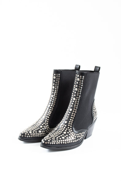 Sapphire Stud Ankle Boot - Tilletts Clothing (4292466606193)