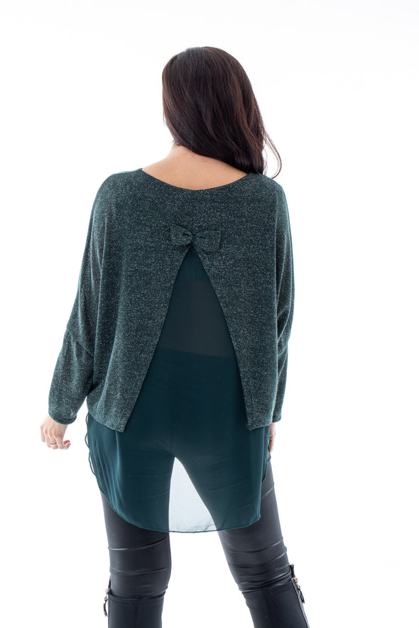 Lurex Bow Back - Tilletts Clothing (4257107705969)