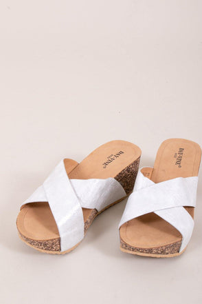 Myla Wedge - Silver