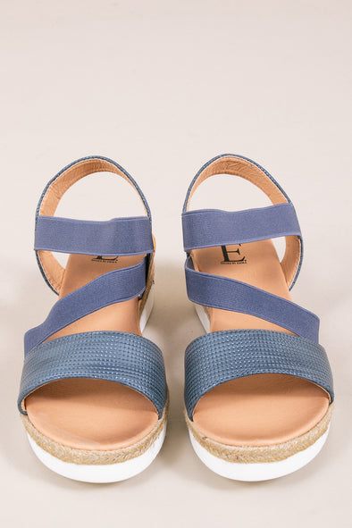 Trinidad Wedge Sandal - Navy