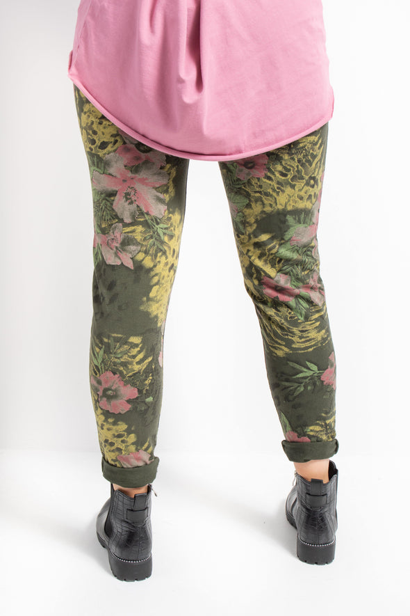 Abstract Floral Jogger - Tilletts Clothing (4257154957425)