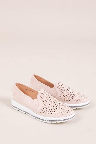 Flower Sparkle Slip On - Pink