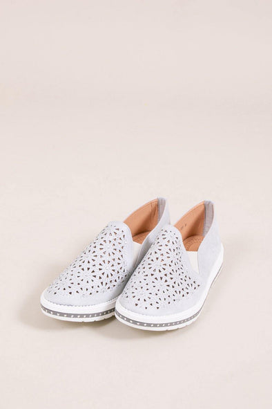 Flower Sparkle Slip On - Grey