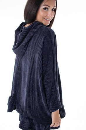 Chenille Heather Hooded Jumper - Tilletts Clothing (4032721649777)