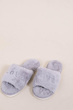 Love Is All Around Slippers - Grey