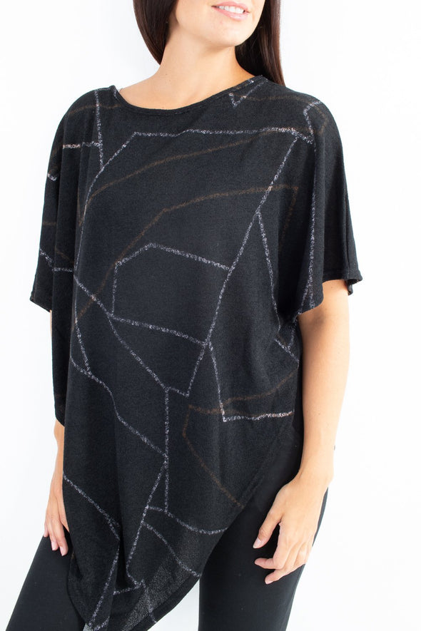 Roo Geo Poncho - Tilletts Clothing (4094540546161)