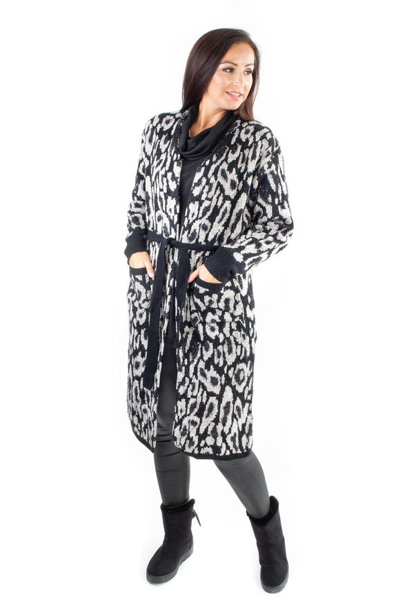 Daria Leopard Coatigan - Tilletts Clothing