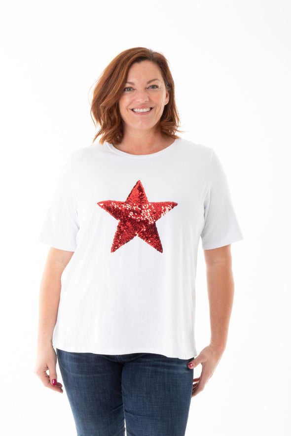 [DONT DELETE TO0U]Sal Sequin Star Tee - Tilletts Clothing (2485163458673)