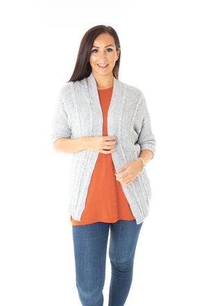 Millicent Cable Knit Jacket - Tilletts Clothing (4054450274417)