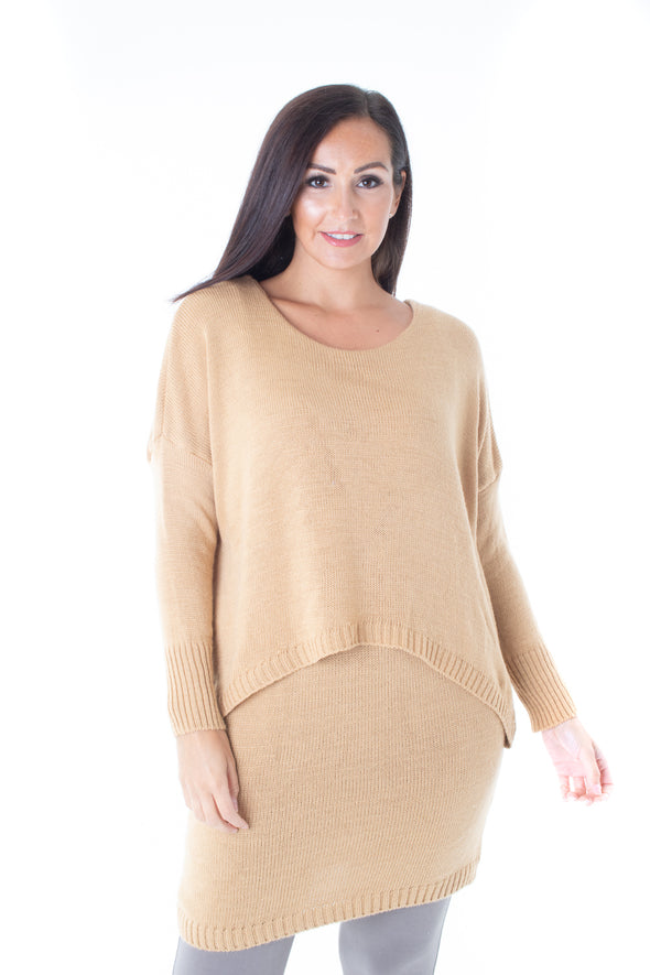 Maggie Layered Jumper Dress - Tilletts Clothing (4097756135537)