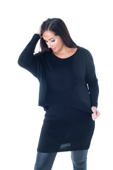 Maggie Layered Jumper Dress