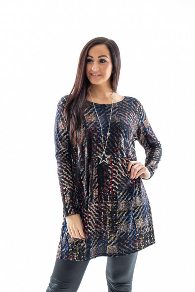 Abstract Swing Dress