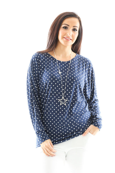 Prancer Polka Dot Top
