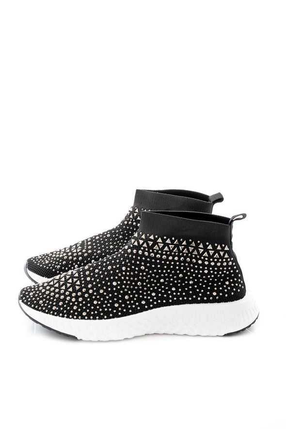 Nellie Sparkle Trainer Boot - Black