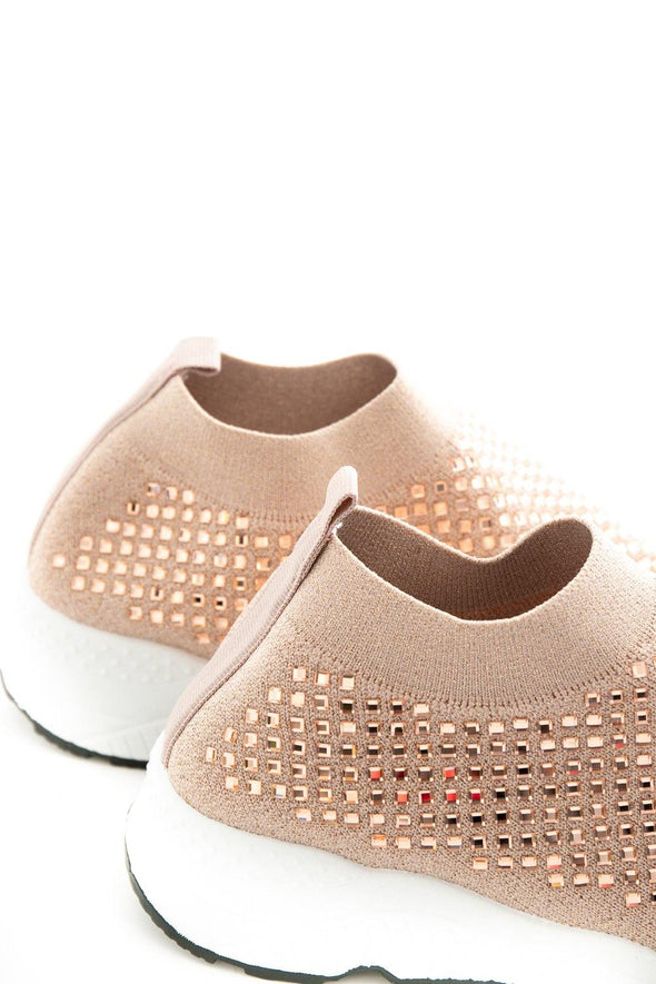 Krystal Diamond Trainers - Pink