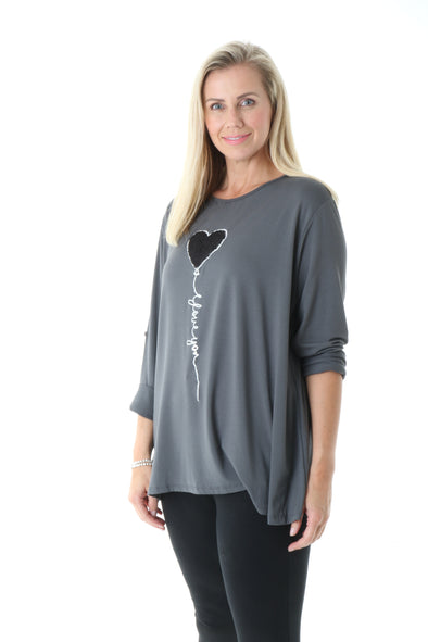 Lola Love Balloon Top - Tilletts Clothing (4185031016561)