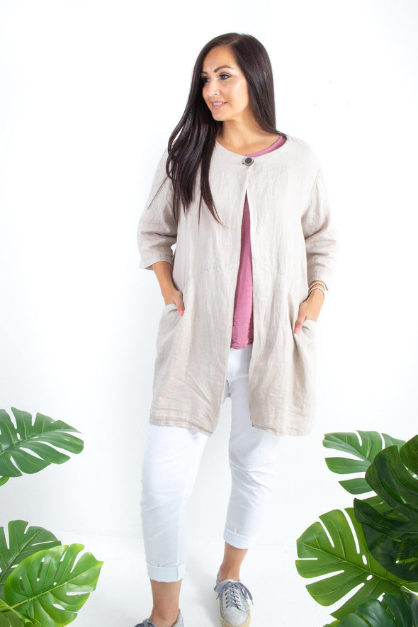 The Willow Long Plain Jacket
