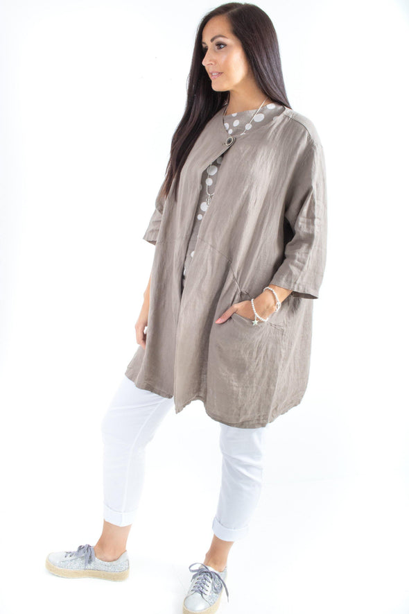 The Willow Long Plain Jacket - Tilletts Clothing (3947916066929)