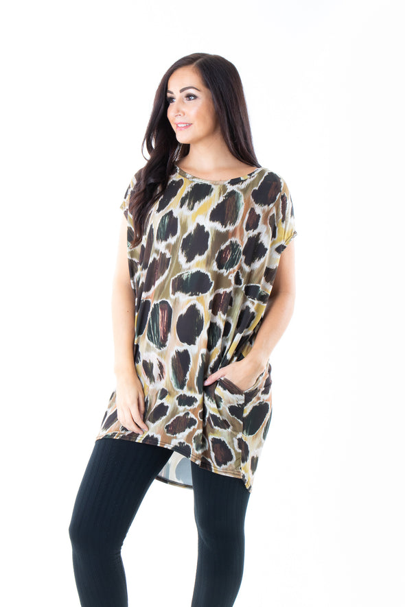 Queenie Printed Tunic - Tilletts Clothing (4095073484913)