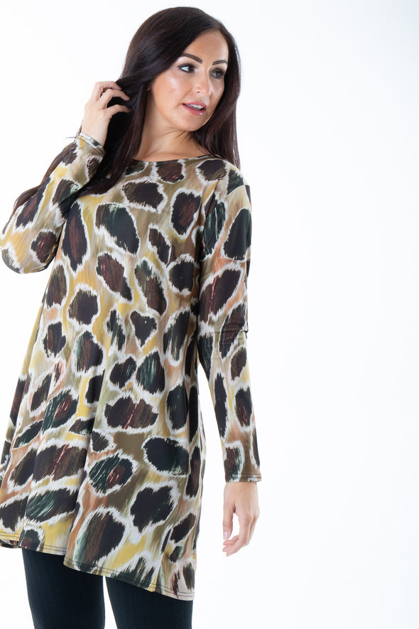 Queenie Printed Swing Dress - Tilletts Clothing (4095082823793)