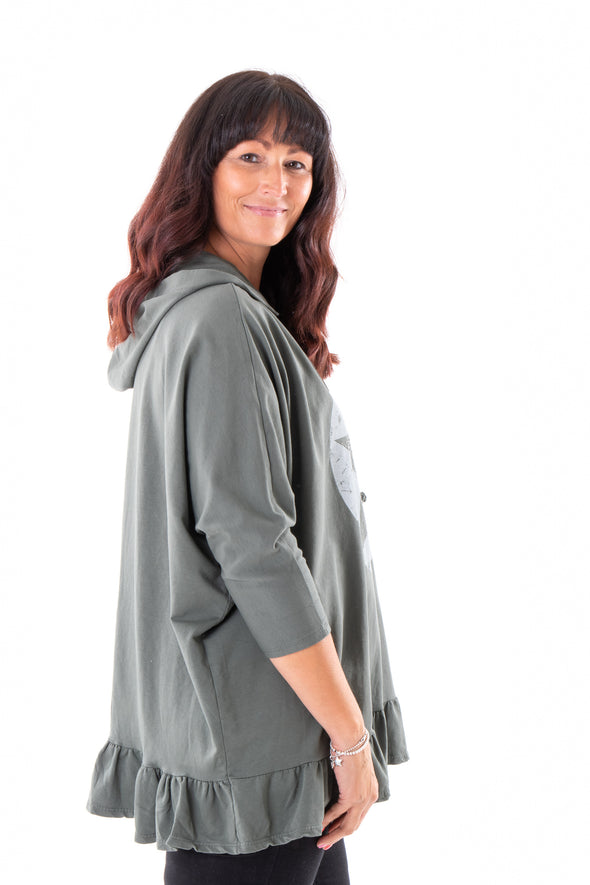 Star Heather Hooded Jumper - Tilletts Clothing (4094086086769)