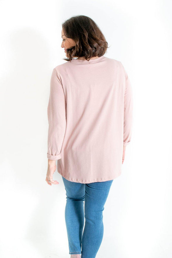 Myah Metallic Heart Top