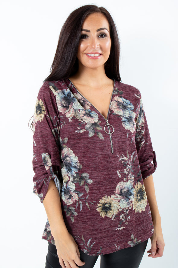 Zippy Floral Top - Tilletts Clothing (4095253774449)