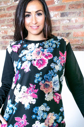 Bright Floral Sweatshirt