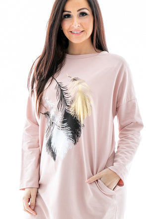Melissa Metallic Feather Top