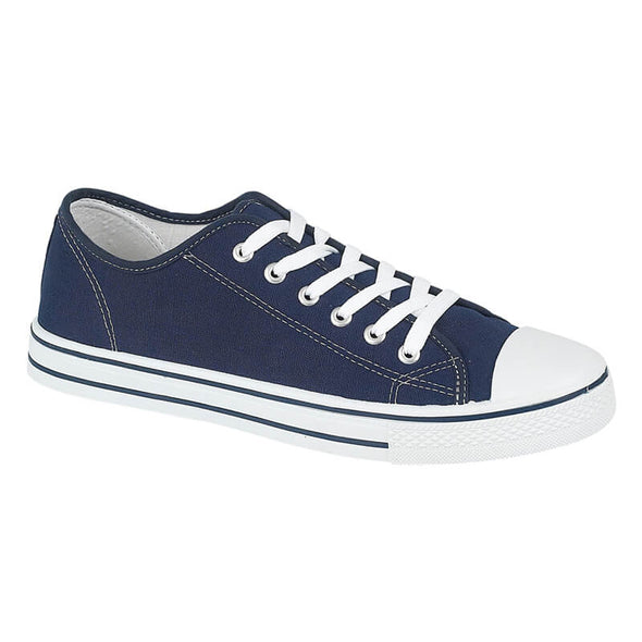 Callie Canvas Trainers - Navy