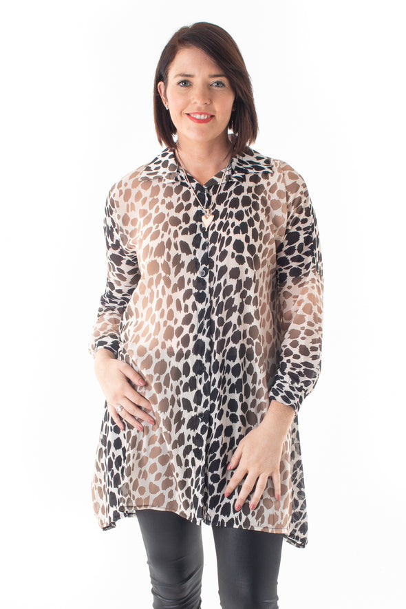 Yvonne Animal Shirt - Tilletts Clothing (4114558812273)