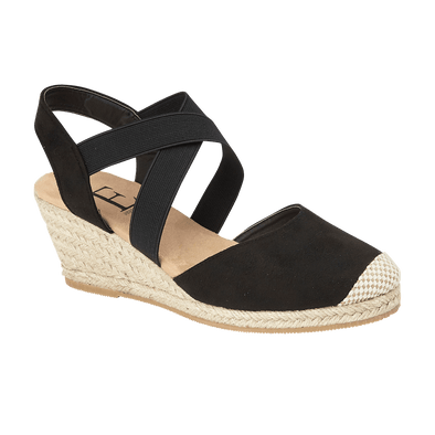 Ebony Wedge Sandal - Black
