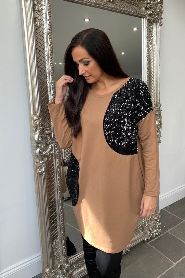 Sequin Sweater Dress