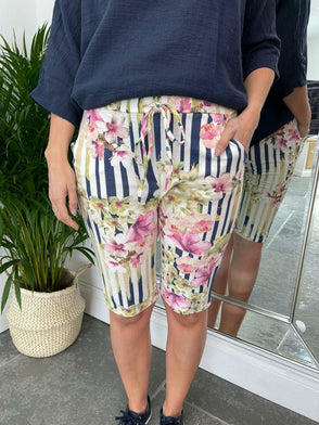 Shorts Stripe Floral
