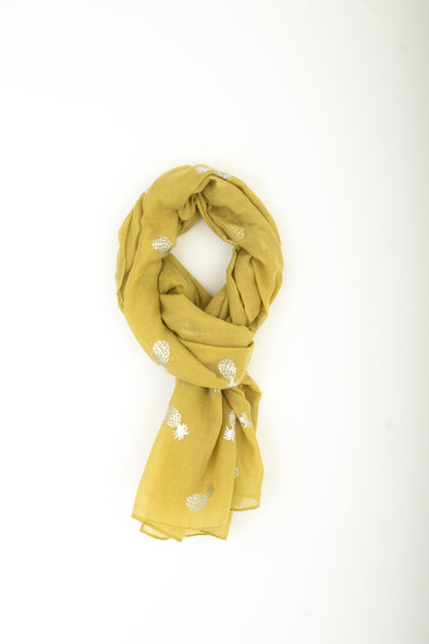 Pineapple Scarf Metallic