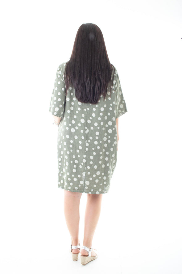 The Willow Spot Tunic Dress - Tilletts Clothing (3947905876081)