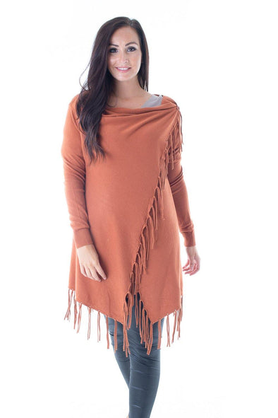 Susan Fringe Cardigan - Tilletts Clothing (3990006759537)